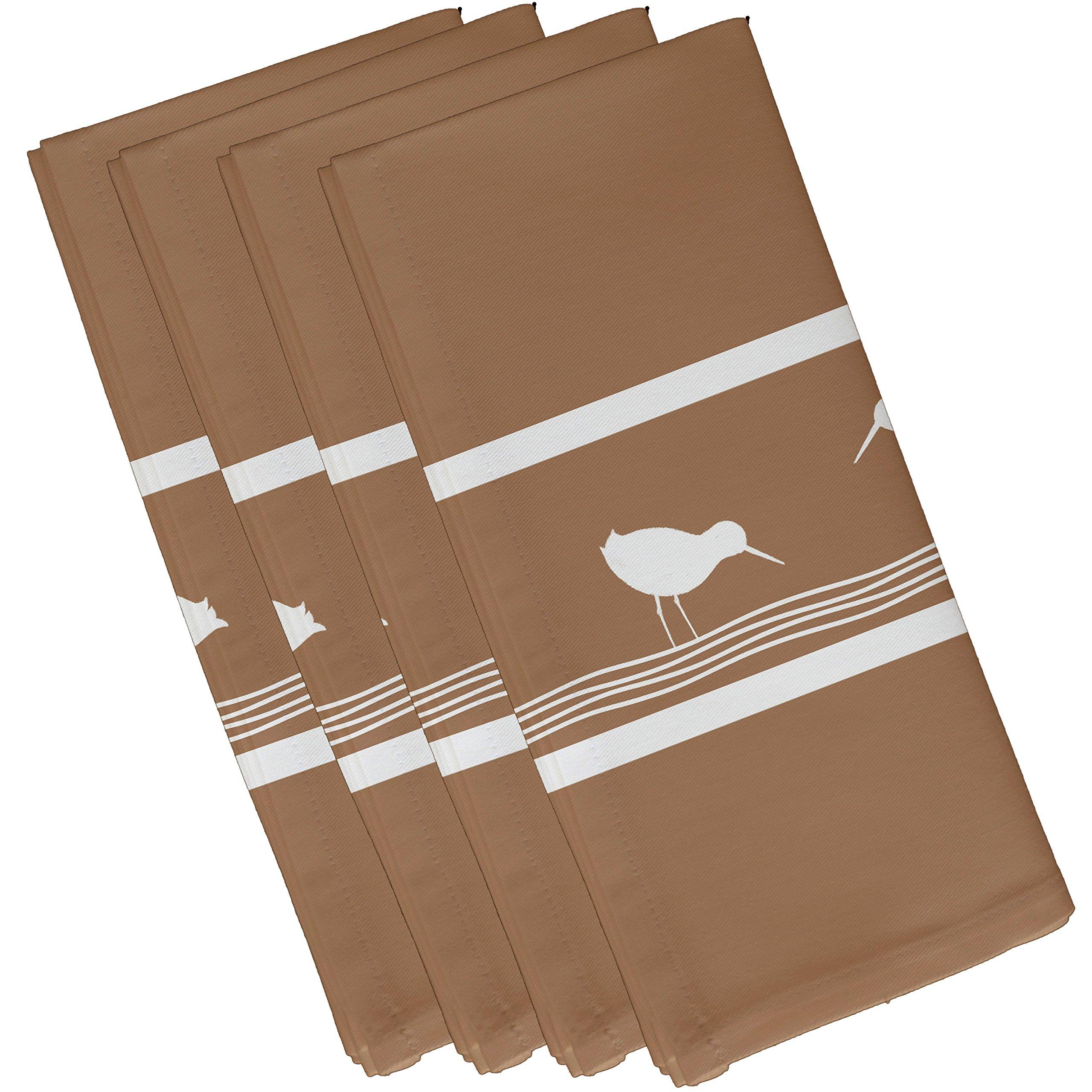 E by design Birdwalk, Animal Print Napkin, 19 x 19'', Taupe/Beige