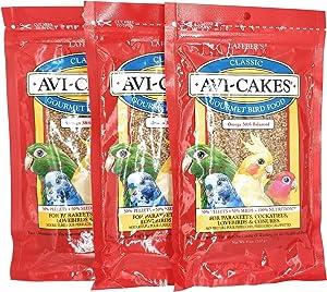 (3 Pack) Lafeber's Original Flavor Avi-Cakes for Parakeets, Cockatiels & Conures