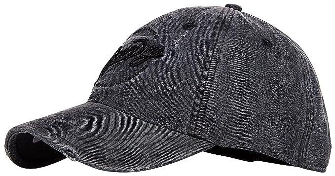 b08f3088e2549 Superdry - Gorra de béisbol - para hombre Negro negro lavado Talla única   Amazon.es  Ropa y accesorios