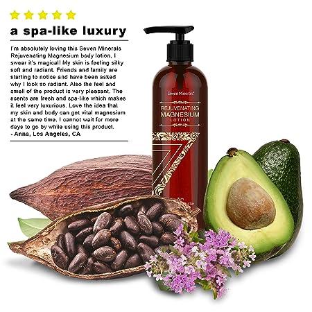 NUEVA Loción Corporal Rejuvenecedora con Magnesio - Humectante diario saludable - sin disruptores de endócrinos. Un spa total para la piel con mantequilla ...