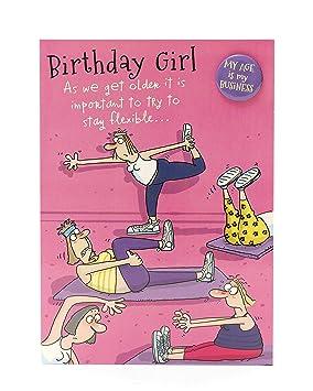 Hanson Blanc 345348 0 2 5 Cm Birthday Girl Yoga Funny