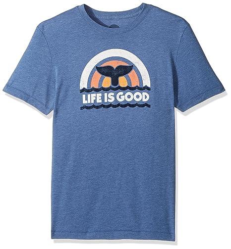 Life Is Good La Vida es Buena de Hombre Cool tee Ballenas Cola Lig vtgblu Camiseta, Hombre, Vintage Blue: Amazon.es: Deportes y aire libre