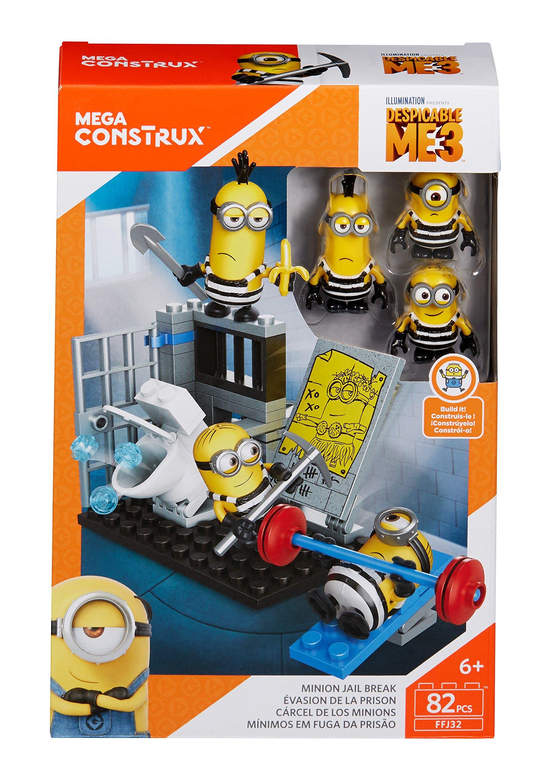 Mega construx despicable me minion jail break building set for Find me a builder