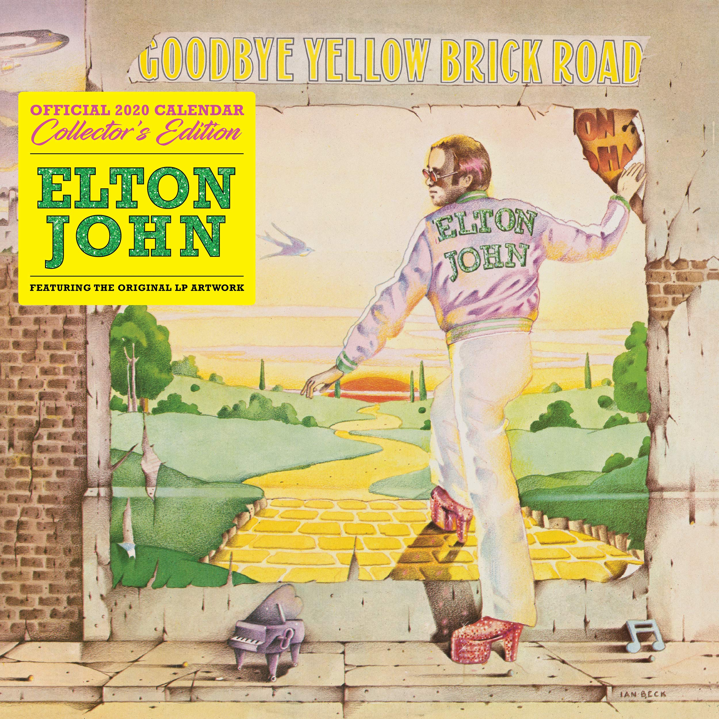 Elton John Collectors Edition 2020 Calendar   Official Square Wall Format Calendar With Record Sleeve Cover