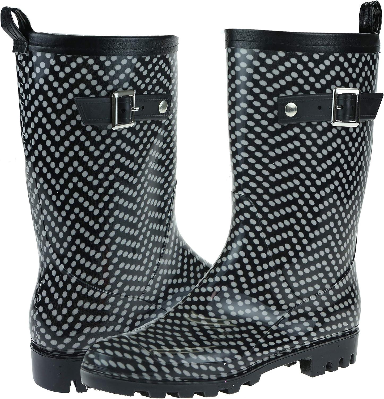 Capelli New York Solid Ladies Short Basic Body Jelly Rain Boot