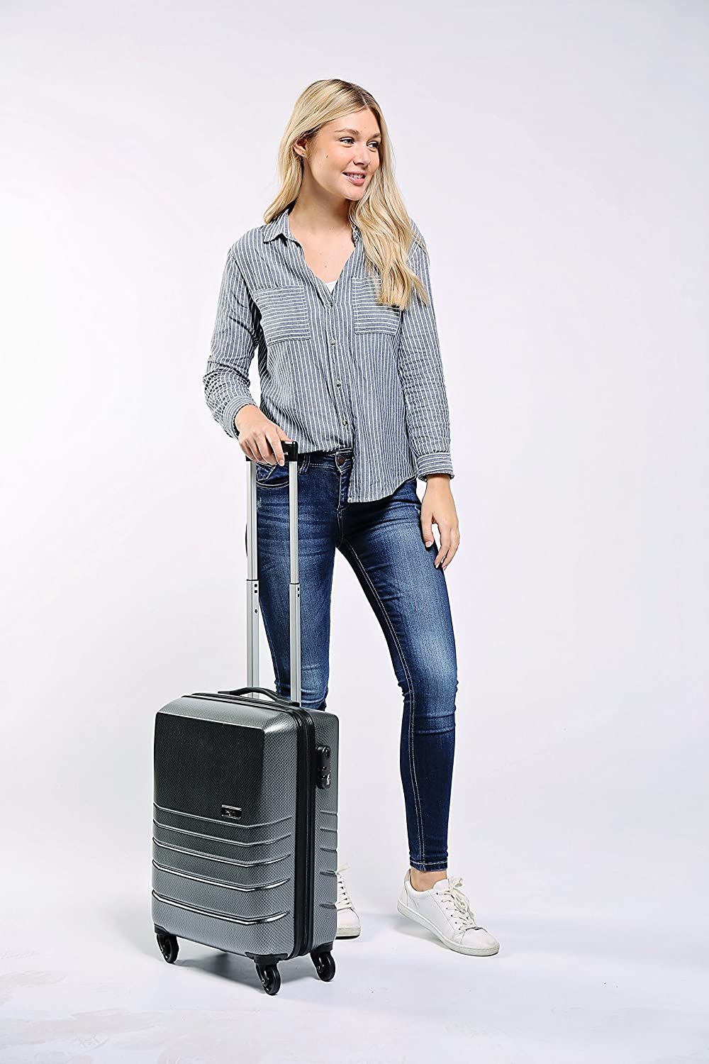 Cabin Max Suitcases with Wheels Carry on Luggage with Spinner Wheels 22x16x8