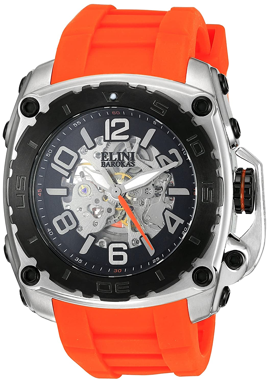 Amazon.com: Elini Barokas Men's 'The General Prime' Automatic Stainless  Steel Casual Watch (Model: ELINI-20027-01-BB-OAS): Watches