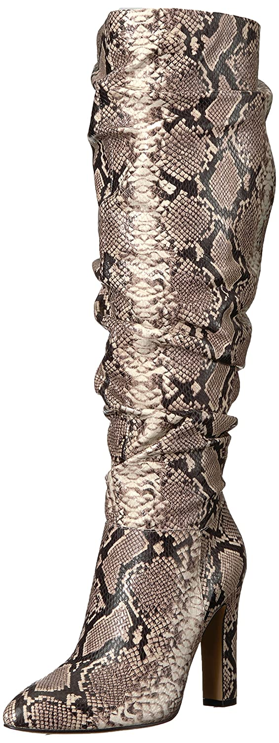 The Fix Women's Kennedi Pointed-Toe to-The-Knee Slouch Boot B074JP8YTP 7 M US|Python Print Embossed Leather