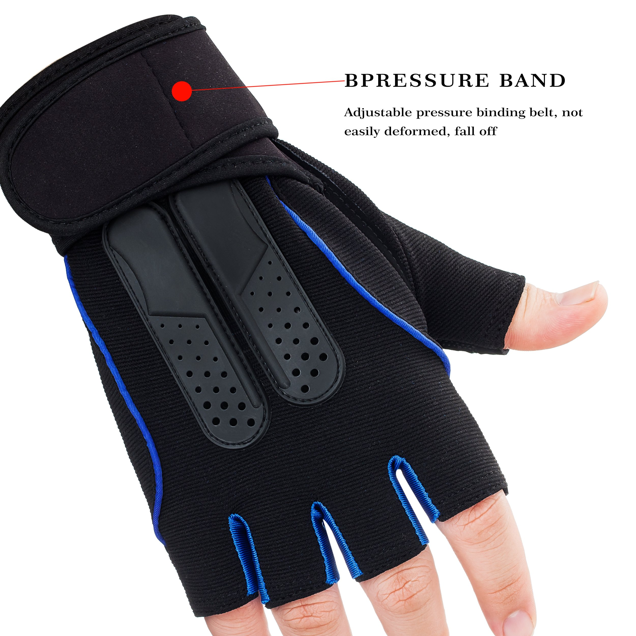 SportAI Cycling Gloves Men\'s and Women\'s Half Finger Glove Fitness Exercise Training Workout Gloves