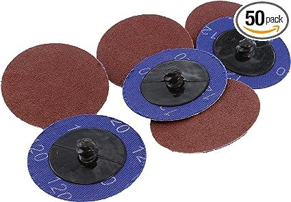"100 pcs 2/"" Roll Lock Sanding Discs 120 GRIT Roloc Abrasive Pads Auto Body Type R"