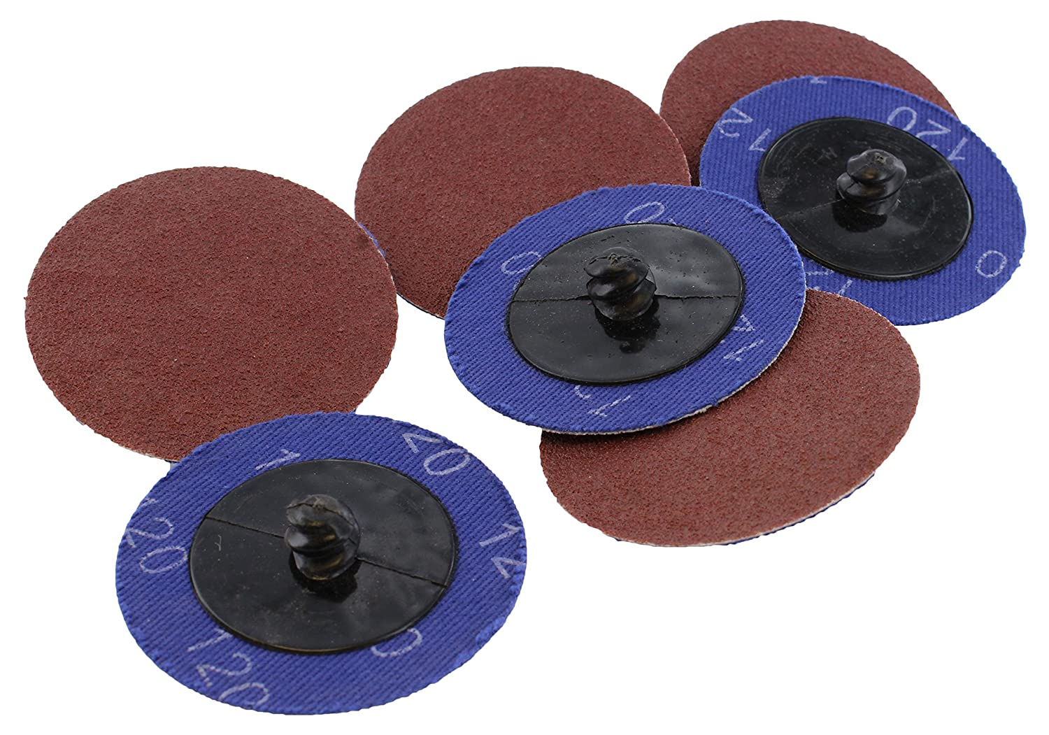 ABN Aluminum Oxide Roloc Abrasive Sanding Discs 50-Pack, 2in, 120 Grit – Metal Wheels for Surface Prep and Finishing 91yWQede8fL