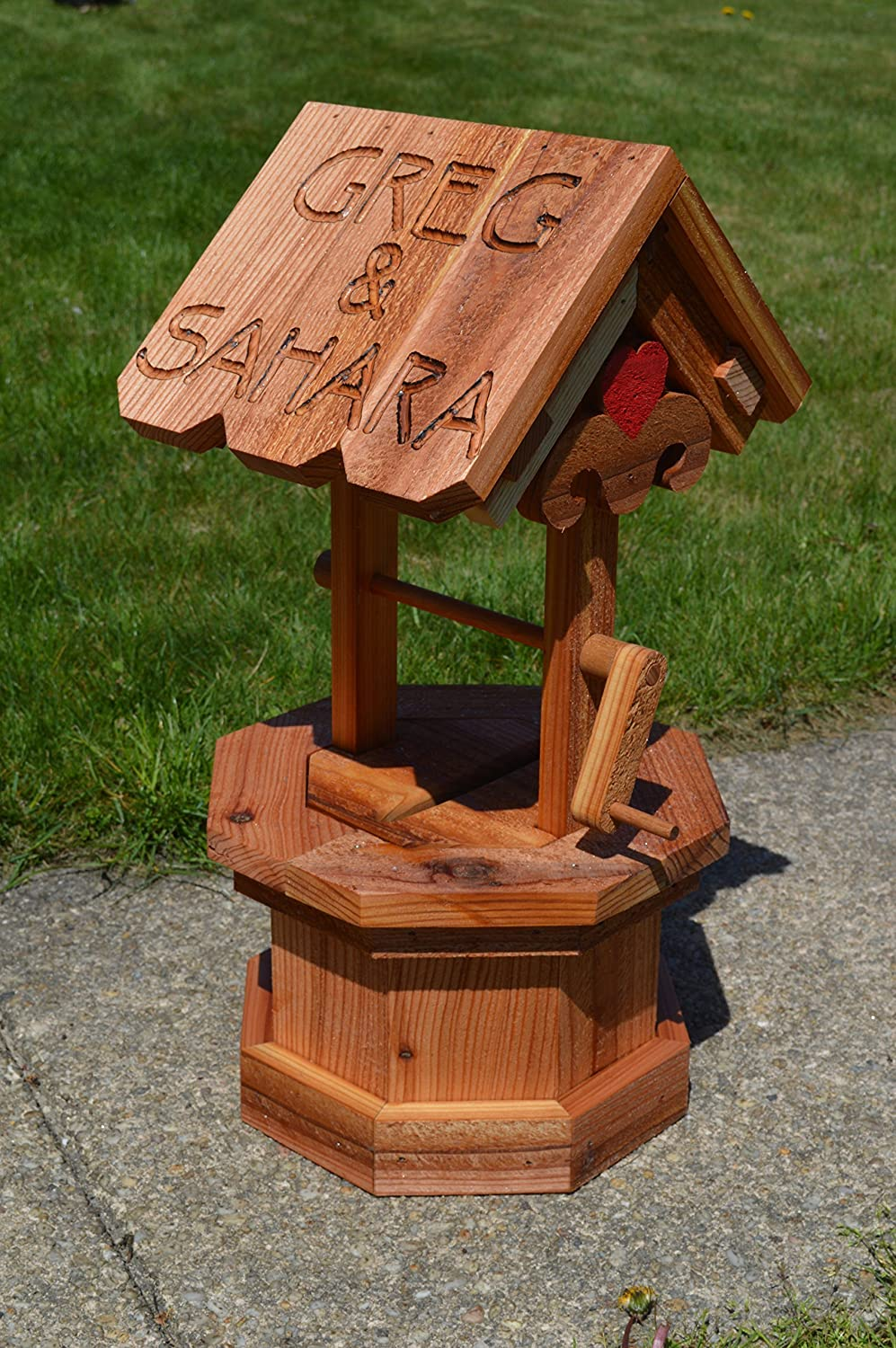 Rough Sawn Cedar Wedding Wishing Well