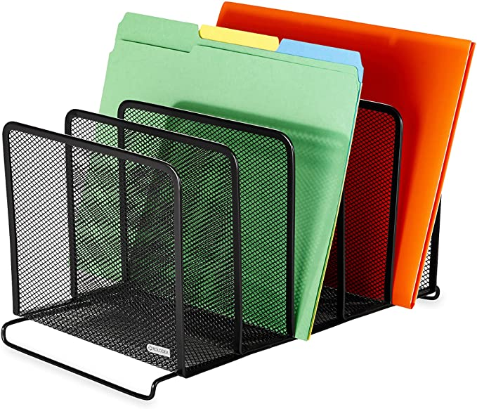 Rolodex Mesh Collection Stacking Sorter 5 Section Black 22141 Amazon Co Uk Office Products