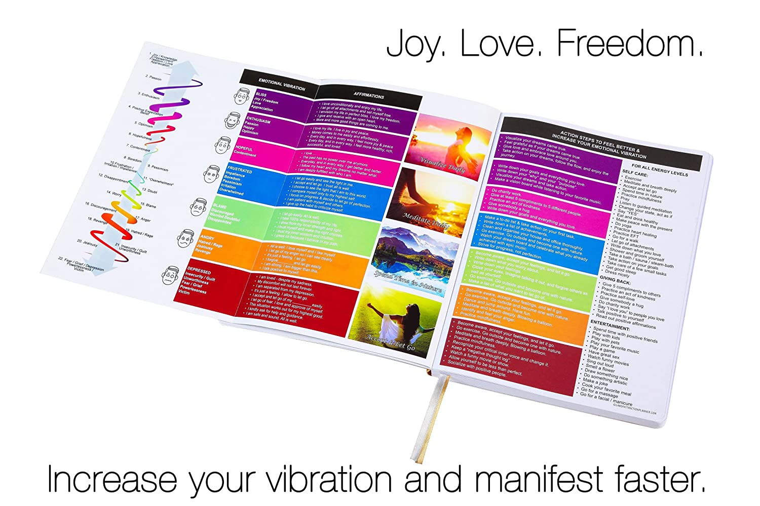 Amazon Freedom Mastery Law Of Attraction Goal Planner Organizer Office Products