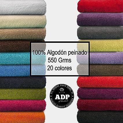 ADP Home - Juego de Toallas 550 Grms 3 Piezas (Toalla Sábana/Baño, Lavabo/Mano, Tocador) 100% Algodón Peinado - Color: Gris: Amazon.es: Hogar