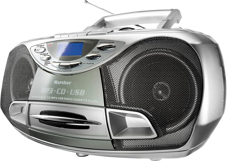 Karcher Cd Radio Rr 510n Boombox Mit Cd Player Ukw Radio Kassettenspieler Mp3 Player über Cd Oder Usb Audio Hifi