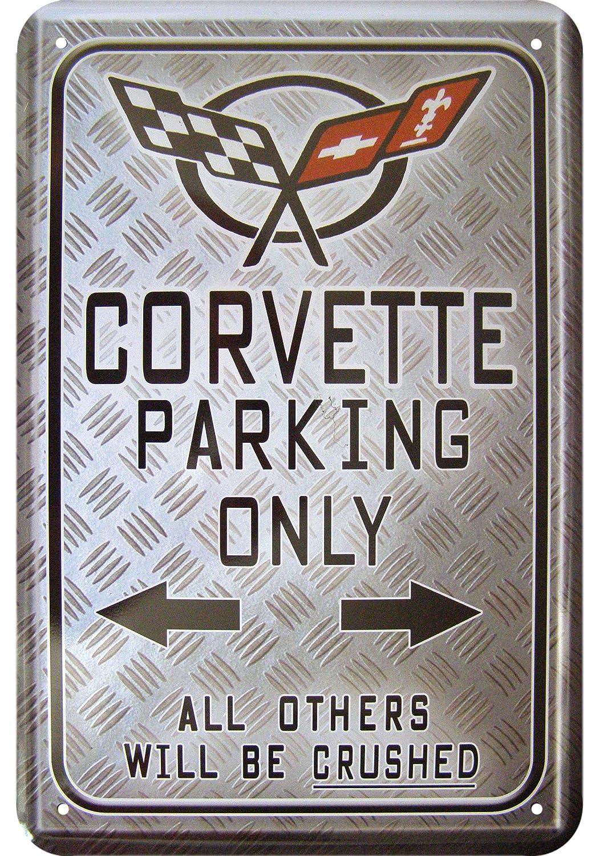 « corvette parking only dé coration mé tallique sign tin Sign Design