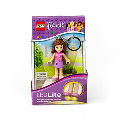 LEGO Friends Olivia Keychain Light - 2.75 Inch Perfect for Backpacks, Keychains - Moving Parts, Long Lasting LED's: Toys & Games