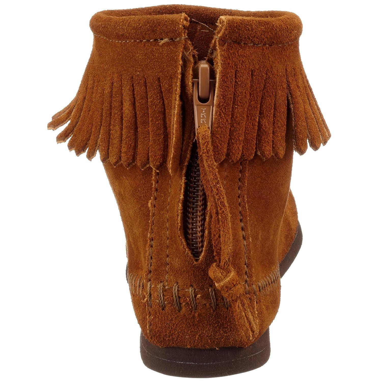 Minnetonka Women's Back-Zipper Bootie B000EXA044 4.5 B(M) US|Brown