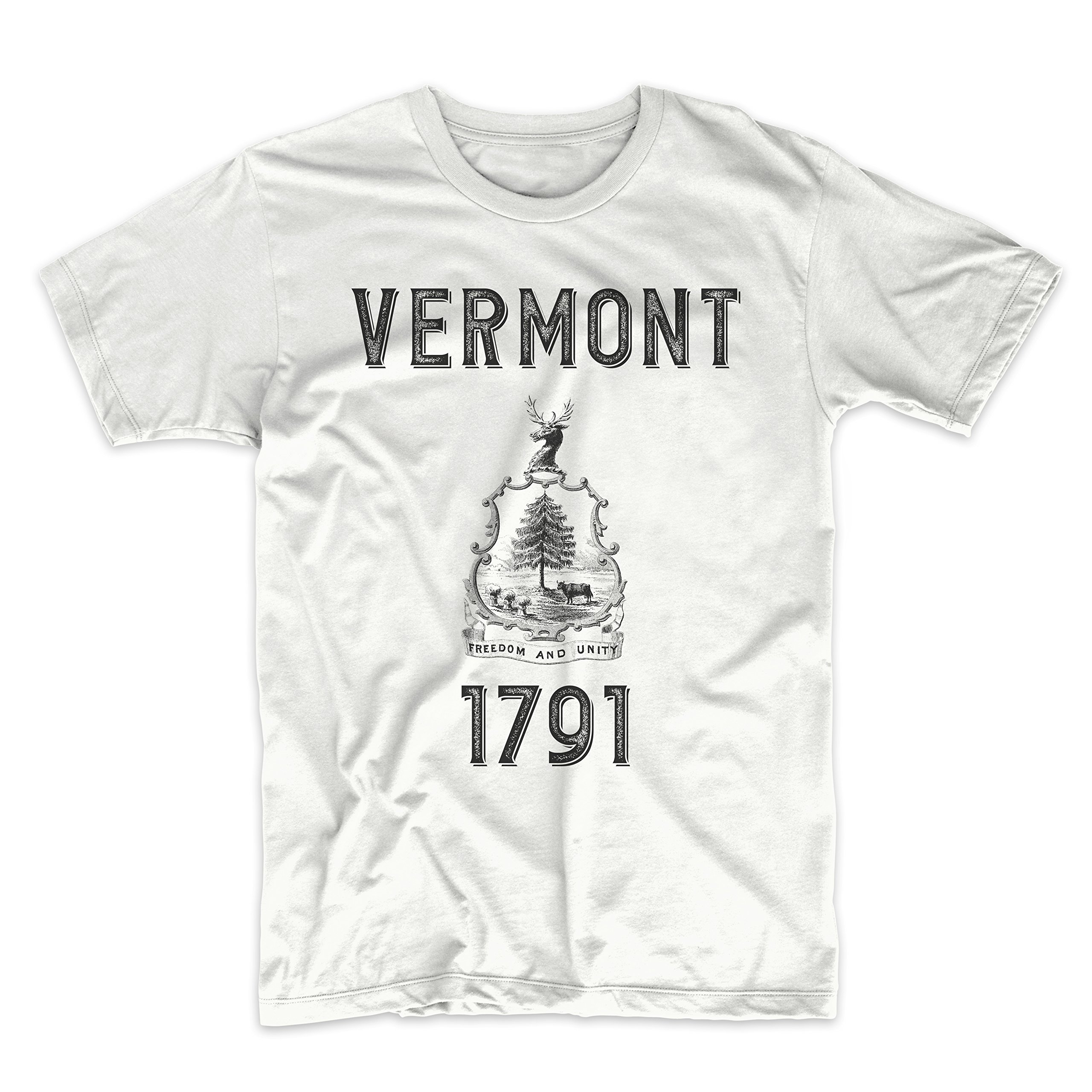 PatentPrints Vermont Coat of Arms T Shirt