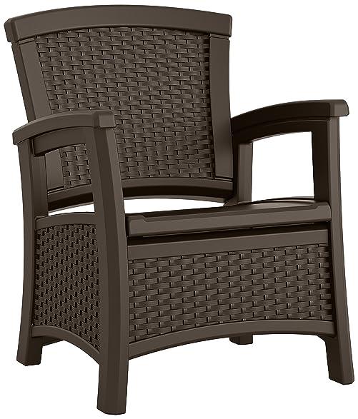 Suncast ELEMENTS Club Chair With Storage, Java