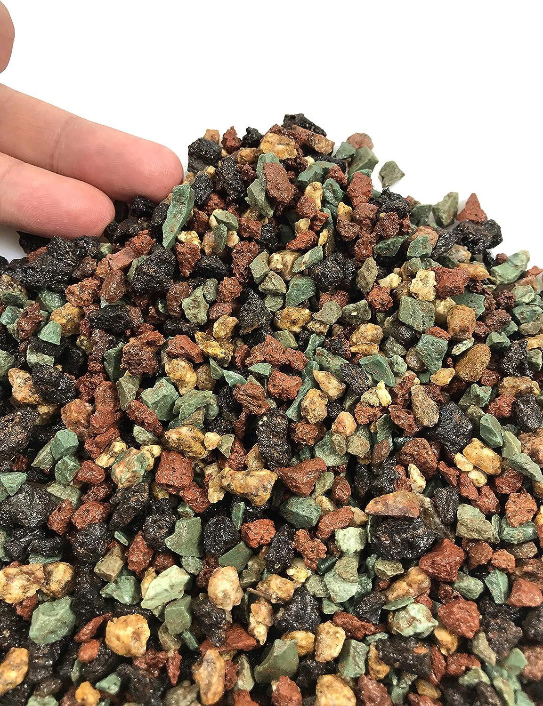 3.5 Pounds Lava Rock Pebbles Pumice Mixed Decorative Gravel Horticultural for Plant Aquariums, Cacti Succulents, Potted