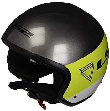 LS2 305612150M OF561 Casco Wave Beat, Color Flup Verde, Tamaño M
