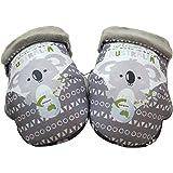 Baby Star G25500 - Manoplas para manillar de silla universal, color gris y blanco