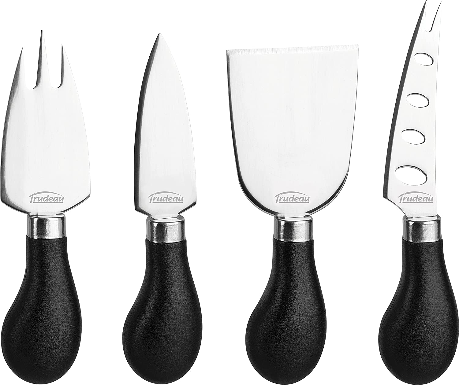 Trudeau Maison Cheese Knives - Set of 4 (Black/Stainless Steel) 0571079