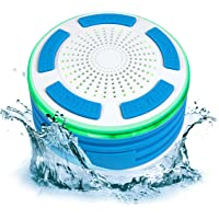 Best Choice Products Portable Waterproof Floating Bluetooth Speaker w/FM Radio, Microphone, LED Lights