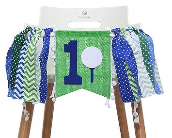 Amazon.com: 1ª pancarta para silla de golf cumpleaños ...