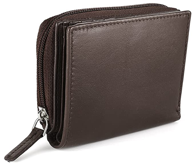 Women s RFID Mini Soft Leather Bifold Wallet With ID Window Card Sleeve  Coin Purse edce51f5fb