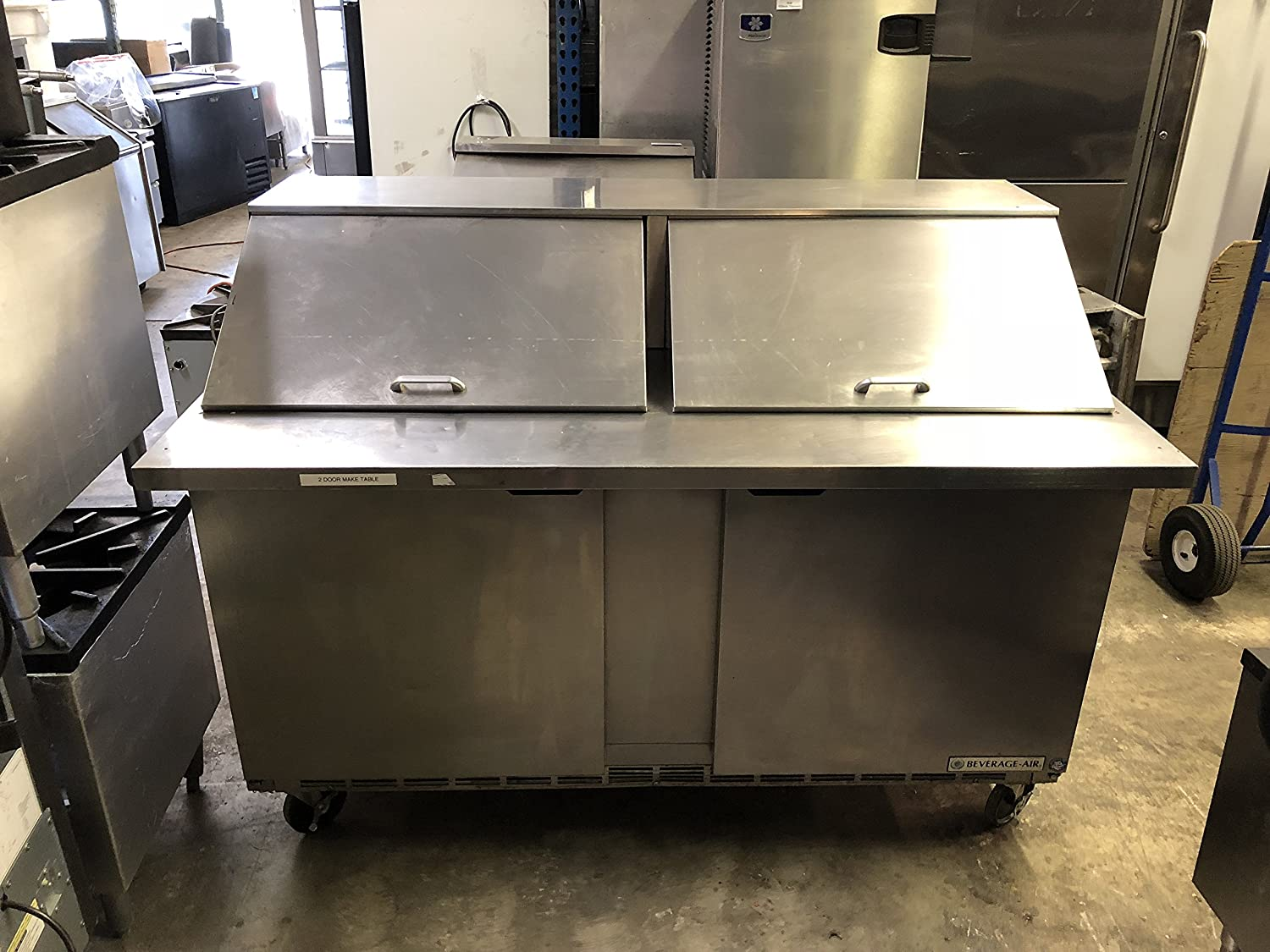 Beverage- Air Corporation 60 Inch Mega Top Unit Dual Sided Sandwich and salad prep table