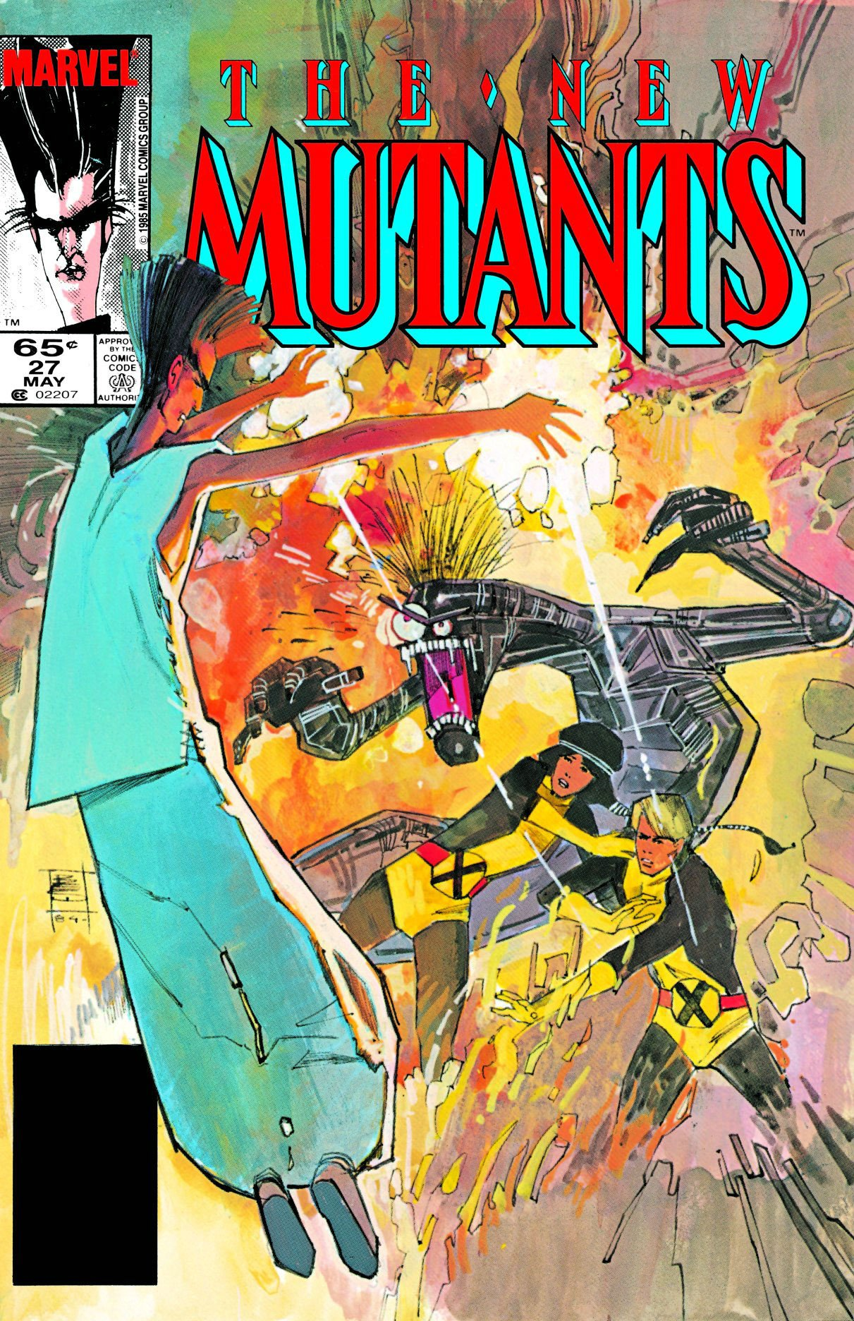 New Mutants 1983 series # 65 very fine comic book