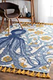 nuLOOM Thomas Paul Flatweave Cotton Octopus Rug, 5' x 8', Multicolor