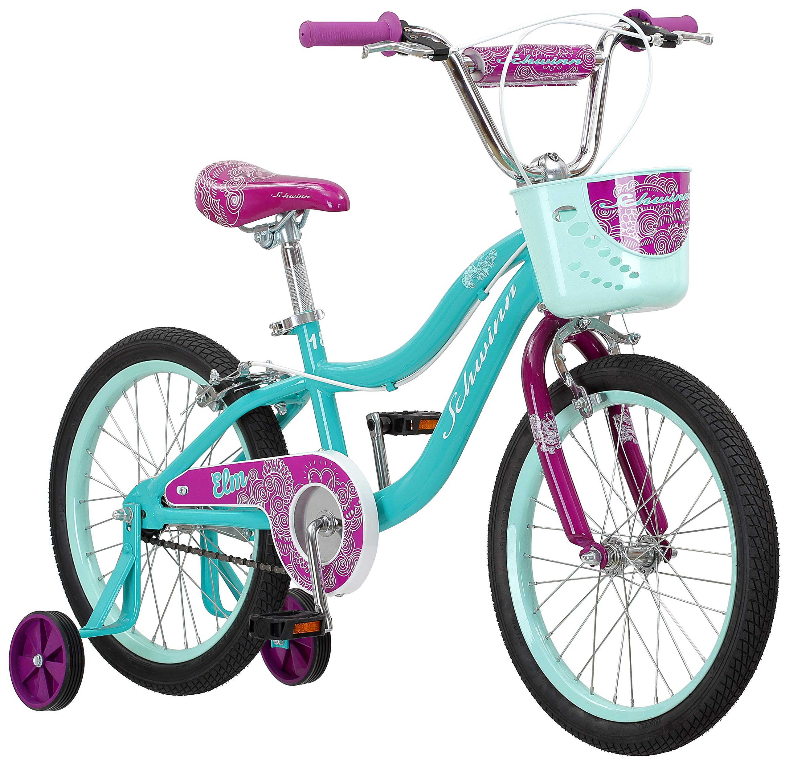 Schwinn Elm Girl's Bike with SmartStart, 18'' Wheels, Teal