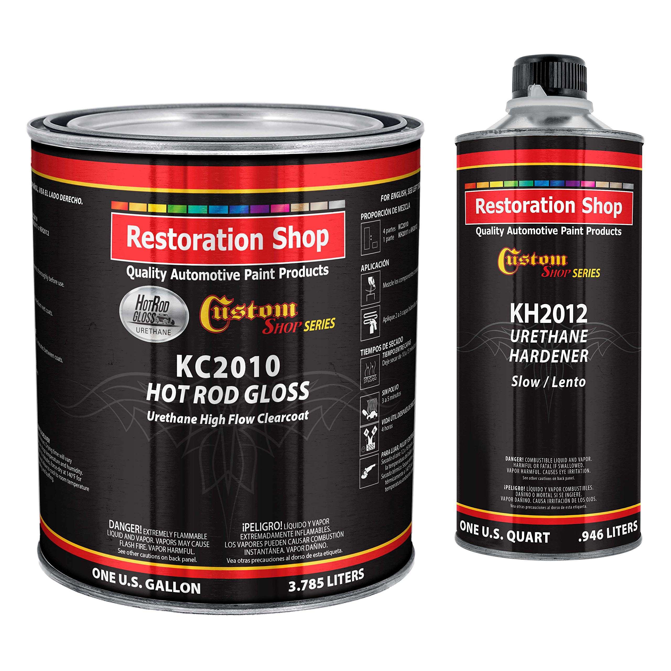 Custom Shop Complete Kit - Hot Rod Gloss Urethane High Flow Clearcoat with Hardener - Gallon by Custom Shop