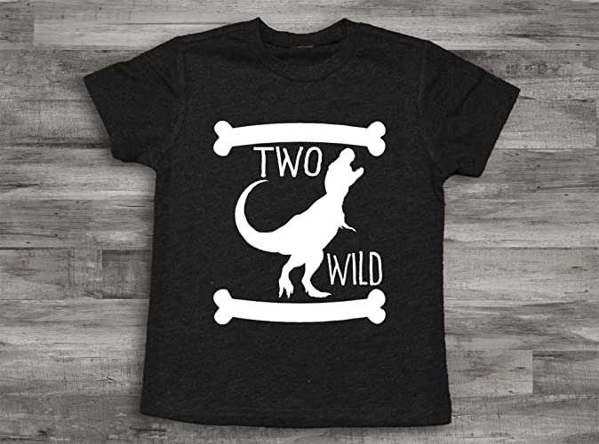 Amazon Dinosaur 2nd Birthday Shirt Two Wild