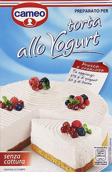 Cameo , Preparato per Torta allo Yogurt, senza Cottura , 280 g Amazon.it  Alimentari e cura della casa