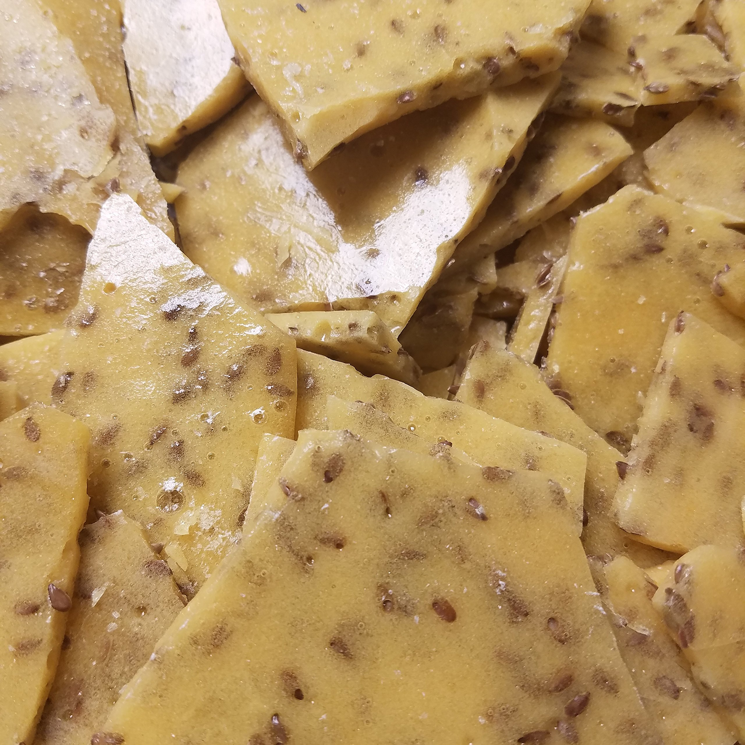 Flax Seed Vegan Candy Brittle NO BUTTER Fourteen ounce Bag Crispy sweet Candy