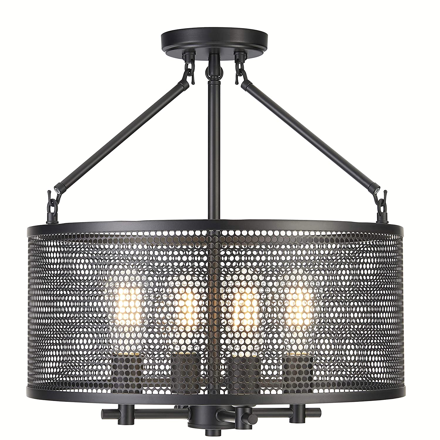 Gianna Chandelier Hanging Light Black Pendant Light with LED Bulbs LL-CL806-5BLK