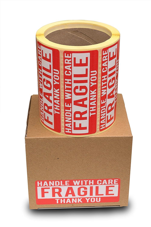Etichette autoadesiveHandel with care 110 x 40 mm Cintapunto 500 pezzi in rotolo