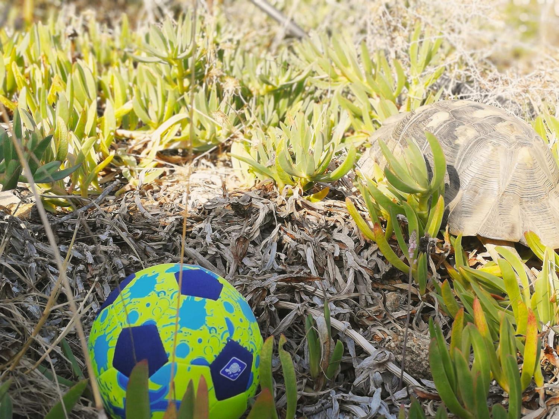 Schildkr/öt Funsports 970277 Mini Ballon de Foot de Plage Jaune//Bleu Taille Unique