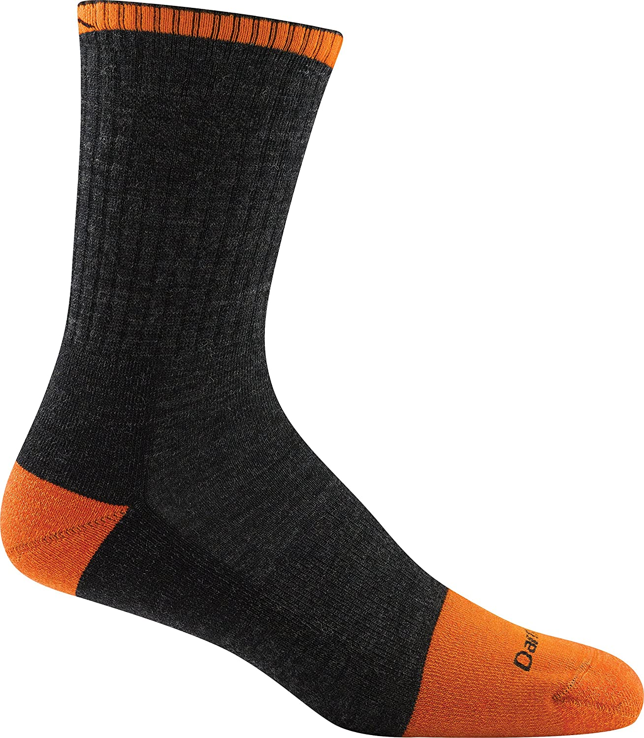 Darn Tough Men's Steely Micro Crew Cush W/Full Cush Toe Box Graphite socks