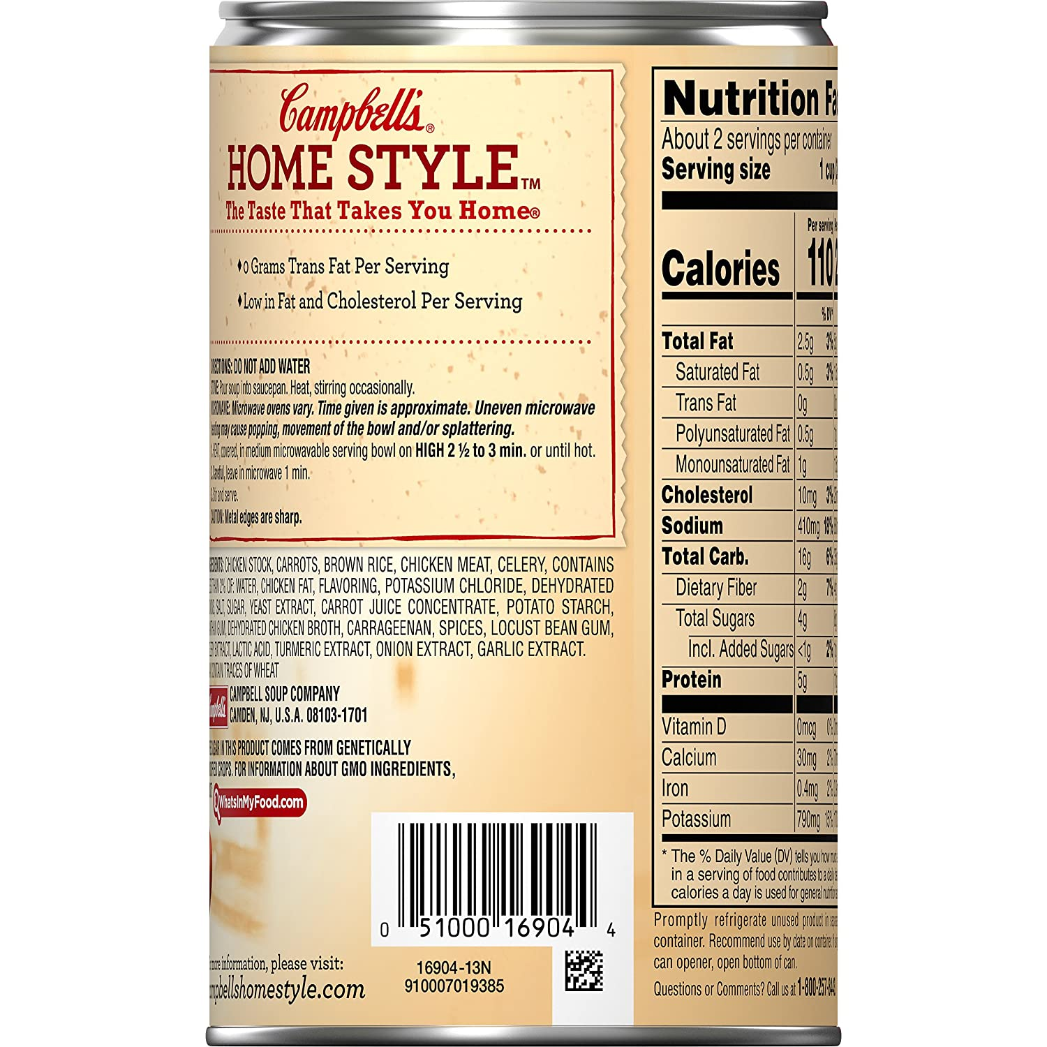 Amazon.com: Campbells Homestyle Healthy Request Soup, Savory Chicken with Brown Rice, 18.6 Ounce: Prime Pantry