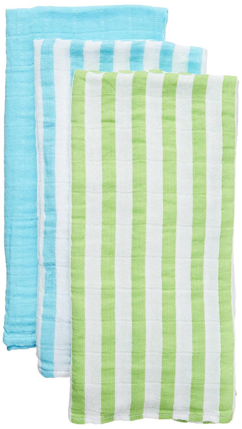 green sprouts 3 Piece Muslin Burp Cloths Made from Organic Cotton Blue Set