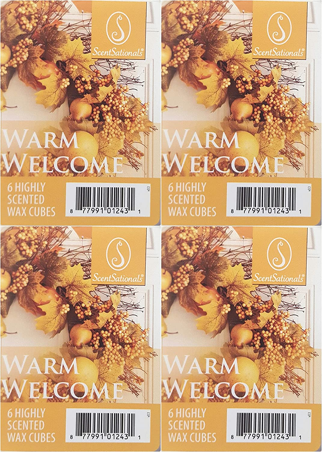 Scentsationals Fusion Warm Welcome Wax Cubes - 4 Packs of 6 Cubes Each