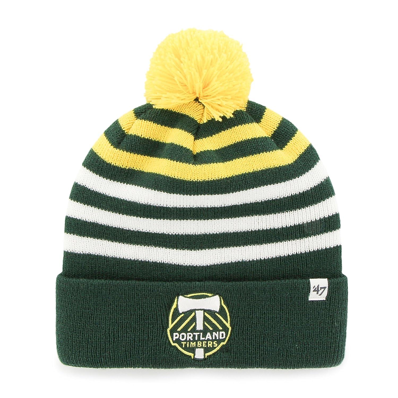 47 MLS Teen-Boys Cuff Knit Hat with Pom