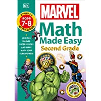Marvel Math Made Easy, Second Grade: Join the Marvel Super Heroes and Make Math Your Superpower!