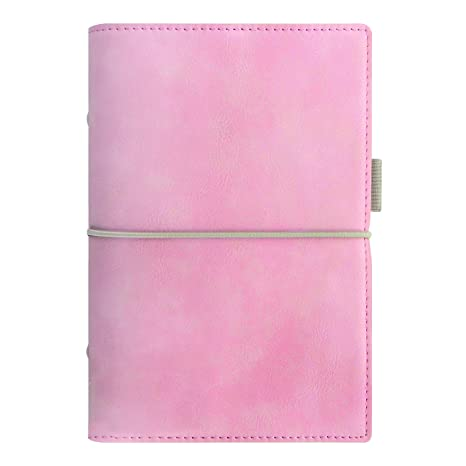 Filofax 2018 Domino Soft Organizer, Personal (6.75 x 3.75), Soft Pale Pink, Planner with to do and Contacts Refills, Indexes and notepaper ...